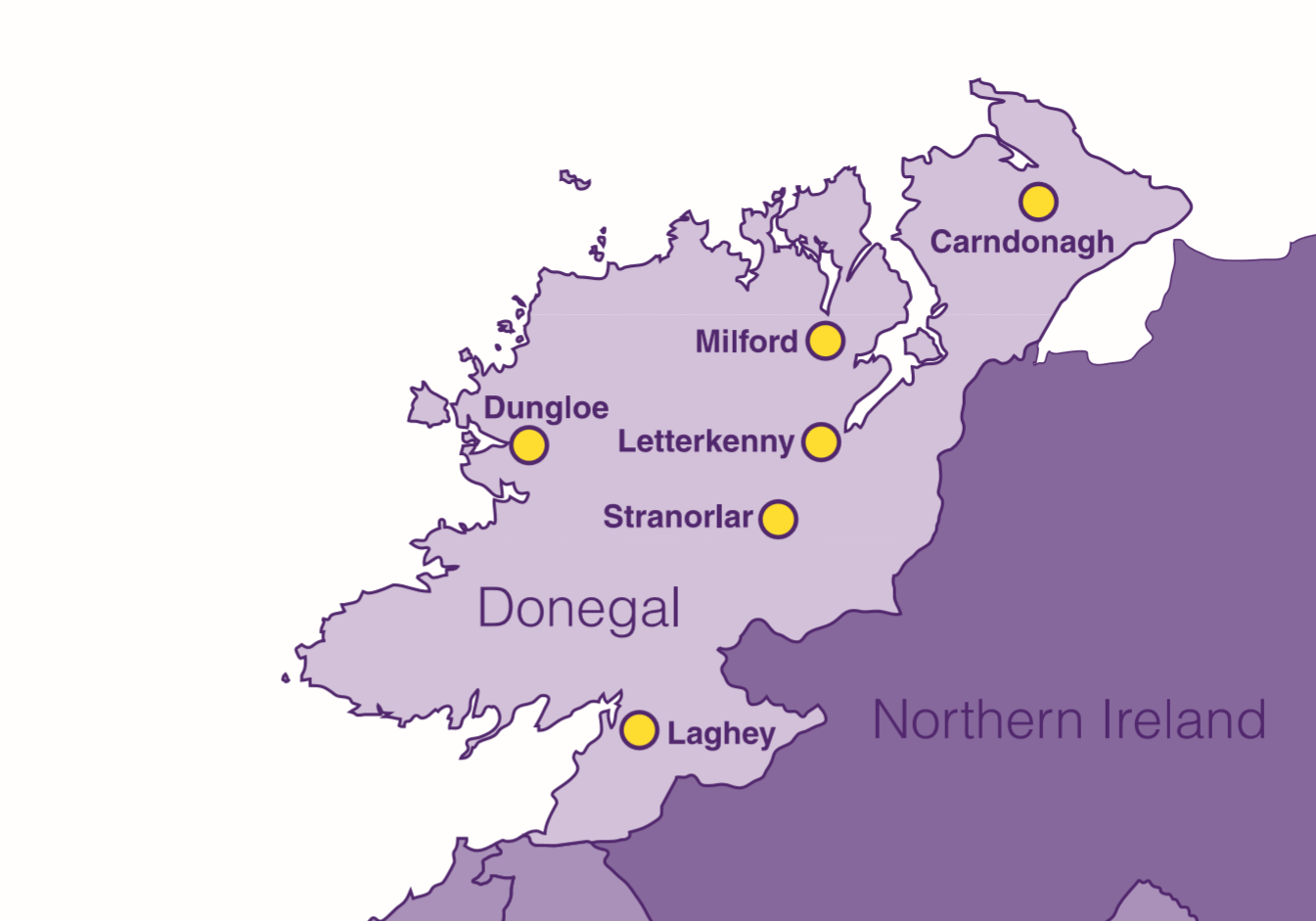 Letterkenny Ireland Map.Donegal Recycling Centres Bryson Recycling