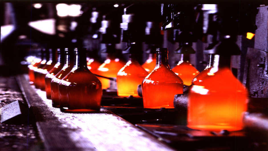 Glass recycled into bottles